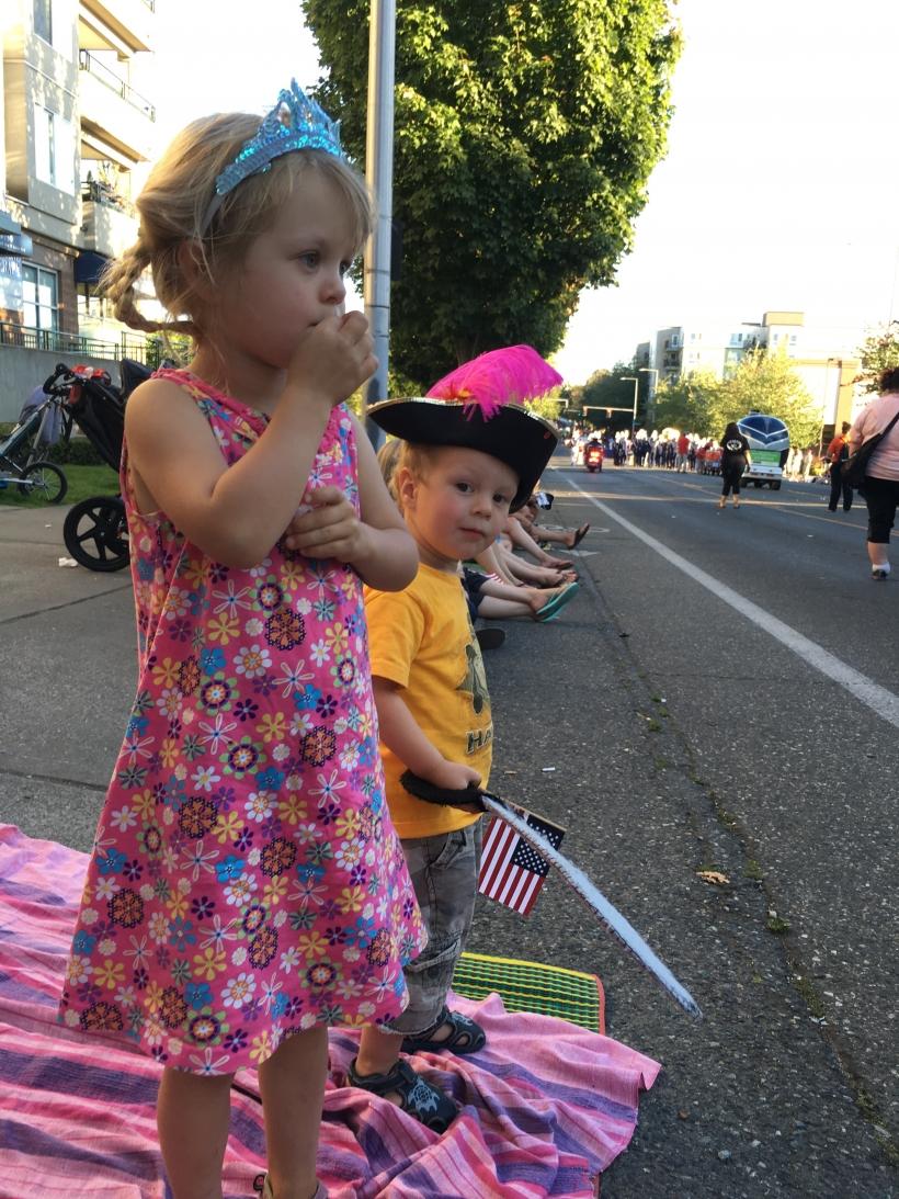 Pirates and princess parade
