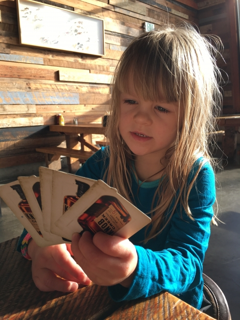 Cards at the Restaurant