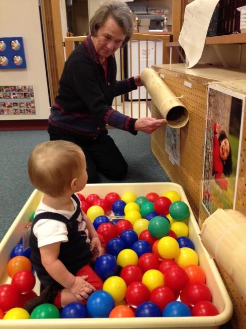 Grandma visits preschool